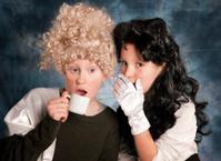 Little Girls, Victorian Costume, Gossip