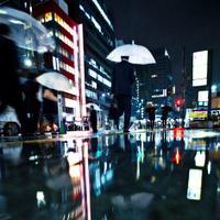 rainy night in big city