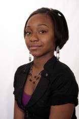 African American Teen Girl Head and Shoulder