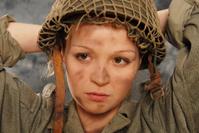 pretty soldier woman