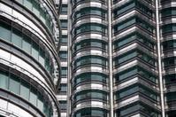 Close up of the Petronas towers in Kuala Lumpur.