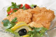Pieces of fish filet