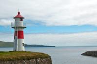 Lighthouse near port entrance
