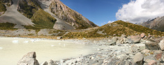 New Zealand Alpine Lake Panorama