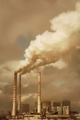 Factory with Smoking Chimneys