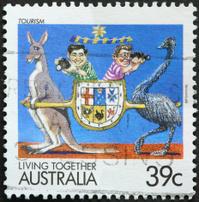 Australian tourism postage stamp