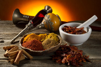 variety os spice with arabian objects