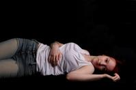 Relaxing teenage girl