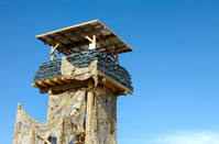 Guard Tower Horizontal Blue Sky