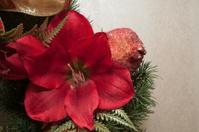 Red wreath flower