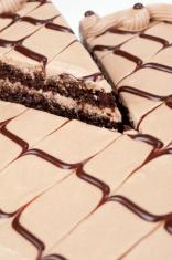 Slice of Fancy Chocolate Cake