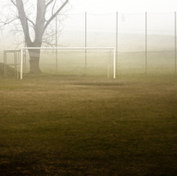 Soccer Field in the Fog