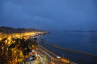 Santander bay at night