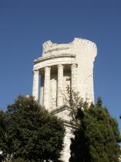 Archeologic monument in La Turbie (French Riviera)
