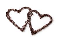 two chocolate hearts