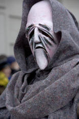 Mr. Death - Bizarre mask at Fasnacht Festival Basel Switzerland