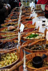 Selling olives and other goods