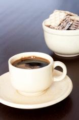 Espresso with waffles