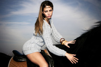 on a horseback
