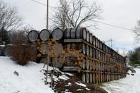 Oak Barrels at Winery in Ohio