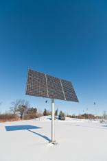 Renewable Energy - Photovoltaic Solar Panel Array in Winter
