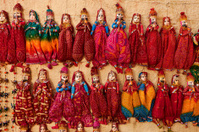 Colorful Indian puppets for sale.