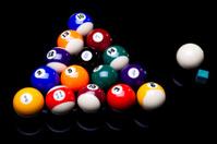 Billiard balls isolate on black