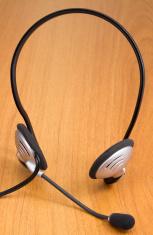 headset on desk