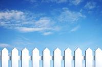blue sky and fence