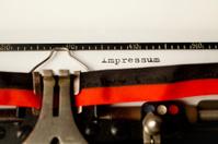 Impressum typewriter