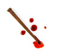 Rusty Nail and Blood Drops
