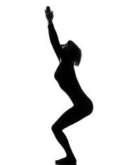 woman silhouettes doing yoga vector stock photos