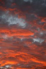 Sky on Fire Sunet Vertical