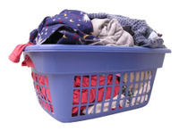 Laundry basket with clipping path