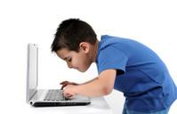 Cute Boy on Computer