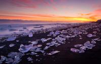 Sunset Icebergs.