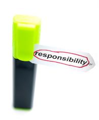 word responsibility encircled