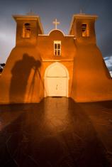 Photographer's Shadow on San Fracisco de Asis Mission