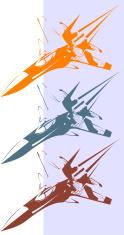 Fighter jet flying fast