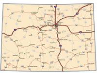 Road Map Columbus Ohio Stock Photos FreeImagescom - Colorado highways map