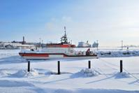 Helsinki. South Harbor in winter