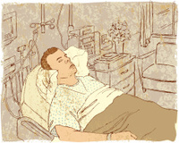 Asleep in a Hospital Room