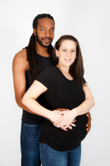 Interracial Maternity Portrait