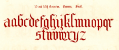 15th and 16th Century Style Alphabet