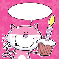Cat cake speech bubble