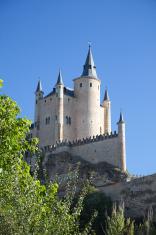 Segovia Alcazar against blue sky. Spain