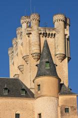 Fragment of the Alcazar in Segovia