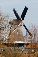 Dutch Bolwerksmolen windmill in Deventer