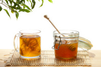 Honey and tea from lime tree