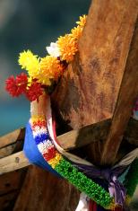 Thailand, Krabi Province, Ko PhiPhi Don, longtail boat.